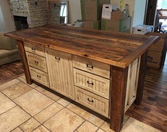 Rustic Wood Kitchen kitchen islands | etsy