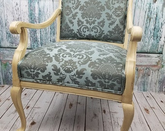 Chair - shabby chic chair - ornate chair - accent chair