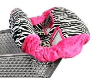 shopping Cart Cover- Zebra/Hot Pink