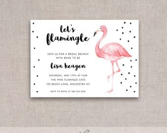 Let's Flamingle Printable Bridal Brunch/Shower Invite, Baby, Birthday, Flamingo