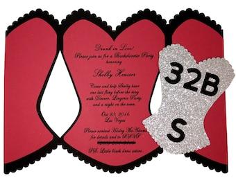 Bachelorette Party Invitation, Bachelorette Invitations, bridal shower invites, corset invitations