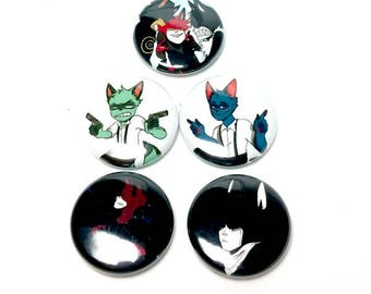 SKMS & Raccoon Brothers Pins SET OF 5