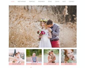 Wix Website Template, website design, photography website, photography logo, photography branding, template 4833
