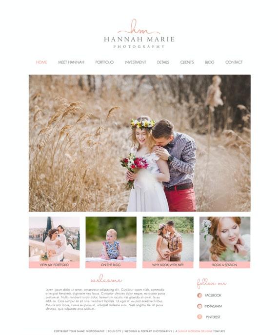 Wix Website Template Website Design Photography Website