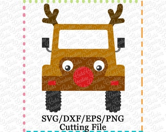 EXCLUSIVE Jeep Reindeer SVG Cutting File, jeep reindeer cut file, jeep reindeer cutting file, Christmas svg, LIMITED commercial use