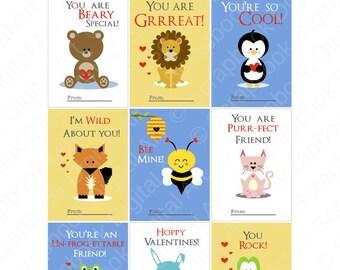 Printable Valentine cards, Kids Valentine cards, Valentine's Day Cards For Kids, Valentine tags