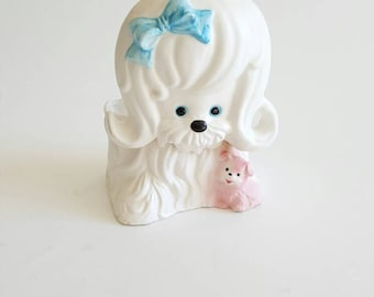 Vintage Dog Planter Container