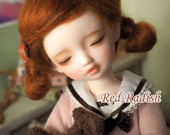 bjd doll girl wig Y-M15 (2 colors) for YOSD 1/6BB