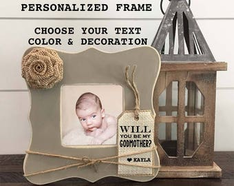 will you be my godparents frame will you be my godmother frame will you be my godfather frame godparent gift frame personalized frame