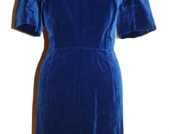 """50s Dress """"Blue Velvet"""""""