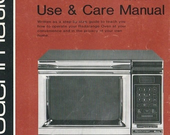 1981 Amana Radarange Manual RR-9TB Touchmatic Microwave Oven