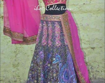 Indian Pakistani Wedding Dress Bridal Lehenga Blouse