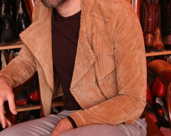 light brown camel suede pig leather native perfecto S