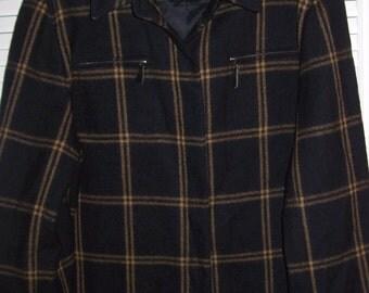 Vintage Halston Sporty Wool Window-Pane Saturday Jacket ! Size 14