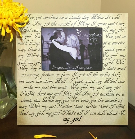 ... Personalized Gift, Wedding gift, Engagement, Father Daughter, My girl