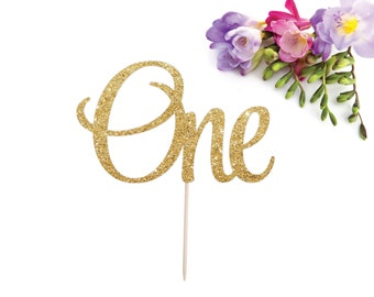 One Cake Topper, First Birthday Cake Topper, I am One, One is Fun, Wild One, Smash Cake Topper, Glitter one Cake Topper, 1 Cake Topper, Gold