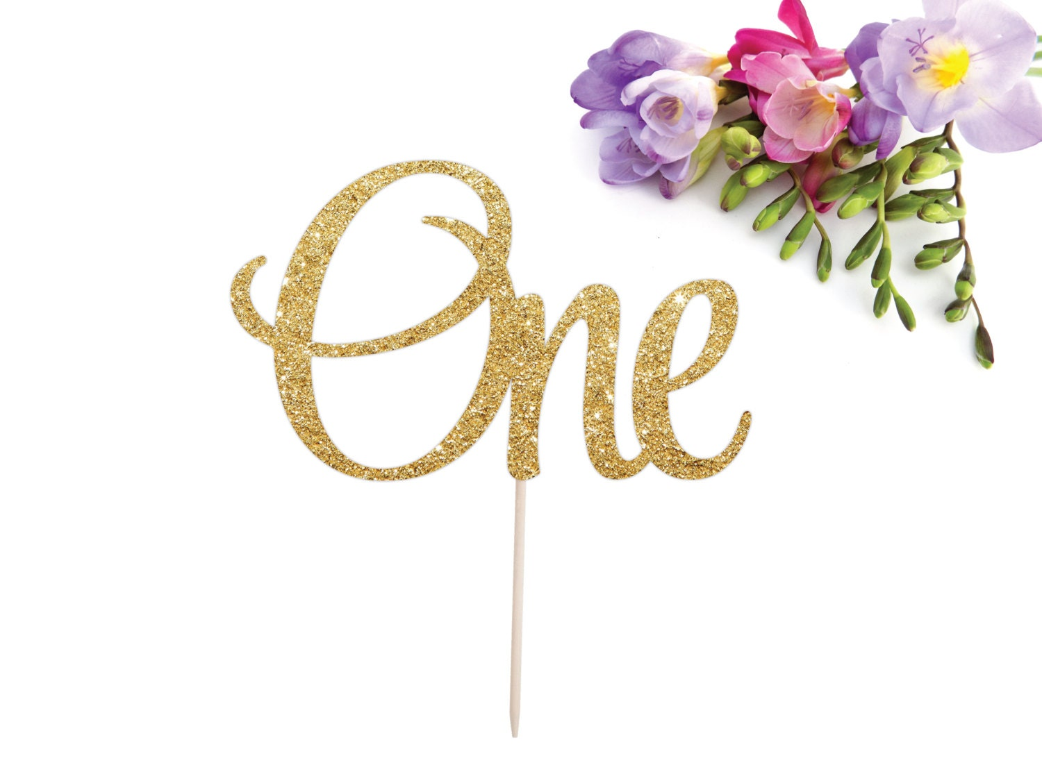 One Cake Topper First Birthday Cake Topper I am One One is