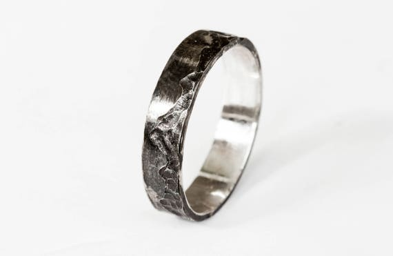 Mountain sterling silver mens wedding band, sterling silver wedding ring, mountain ring