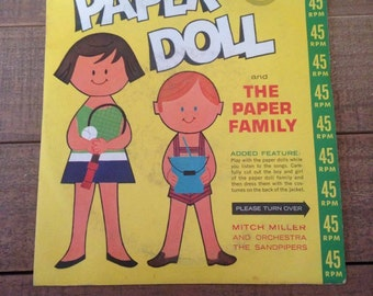 Paper Doll Little Golden Record, The Paper Family, 45 RPM Mitch Miller and Orchestra The Sandpipers