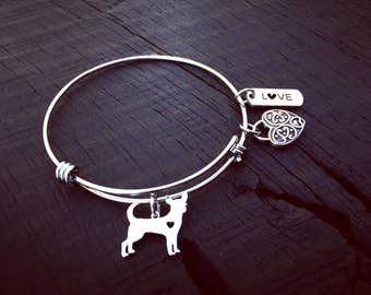 Chihuahua Charm Bracelet | Chihuahua Jewelry | Jewelry Gift For Chihuahua Lover | Chihuahua Rescue & Foster | Adoption And Transport Gift