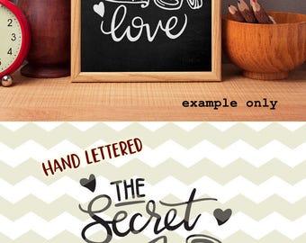 1309+ The Secret Ingredient Is Love Svg SVG File