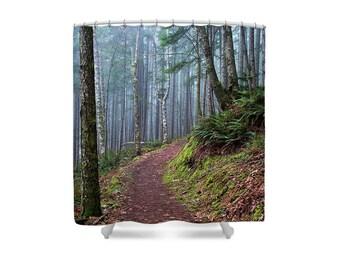 Forest Decor, Gift for Hiker, Hiking Decor, Hiking Gift, Shower Curtain, Forest  Bathroom, Rustic Bathroom, Landscape Decor, Wilderness