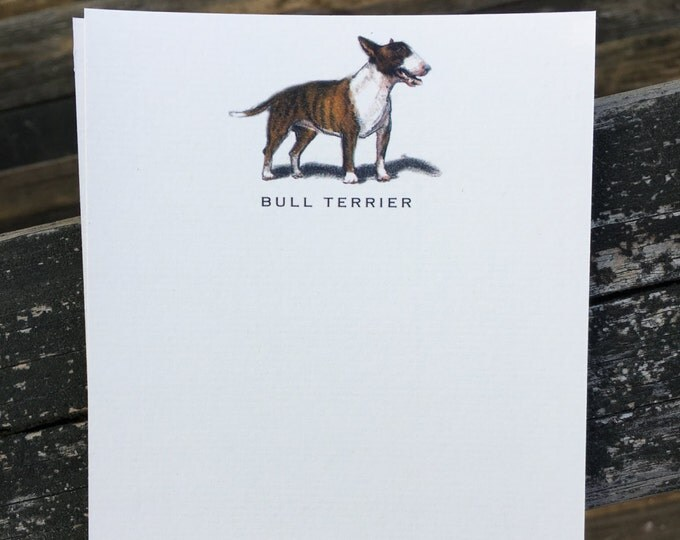 Bull Terrier Dog Note Card Set