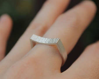 Concave Ring, Sterling Silver
