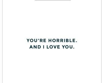 Love Card. Funny Card. Snarky Card. Gift Tag.