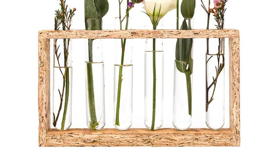 test tube flower vase home decor vase wedding shower. Black Bedroom Furniture Sets. Home Design Ideas