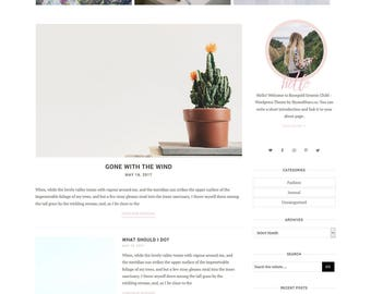 NEW Rosegold Watercolor Wordpress Theme for Genesis Framework - Wordpress Template - Genesis Child Theme