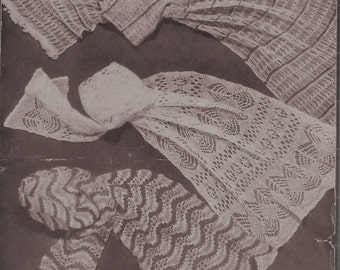Kitting Pattern, Lace scarves