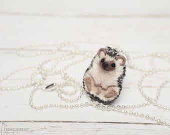 Hedgehog Charm Pendant Necklace