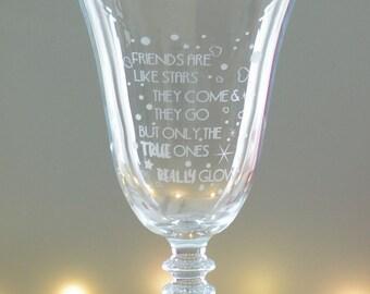 Special Friend Wine Glass