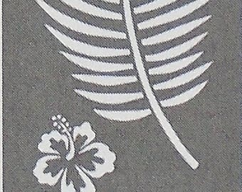 "6"" x 18"", Americana Decor Stencils, Tropical Blooms, Reusable Stencil"