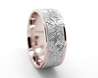 8mm gold rings 10k 14k 18k gold wedding band mens wedding ring womens