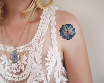 Succulent temporary tattoo / succulent tattoo / floral tattoo / succulent jewelry / boho tattoo / boho temporary tattoo / succulent gift