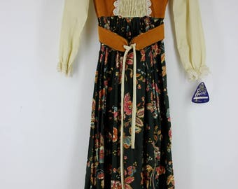 1970s Little House on the Prairie Dress, new with tags