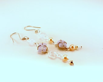 Earrings silver with Chalcedony