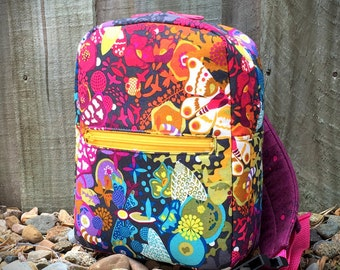Small bag pattern, Little Freehand Pack, backpack pattern, hipster pattern, cross body bag, kids bag, adults bag
