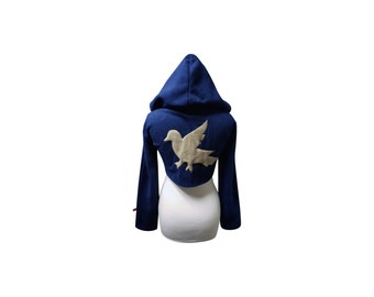 Harry Potter Hogwarts House Ravenclaw inspired cosplay hoodie (shrug style)