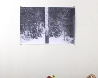 TELEPHONE POLE: Black and White Photograph Large Scale Engineering Print [24x36 or 36x48]