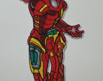 2 DIMENSIONS Iron Man iron on or sew on patch Iron Man iron on patch Iron Man sew on patch Iron Man embroidery Cartoon  patch Iron Man patch