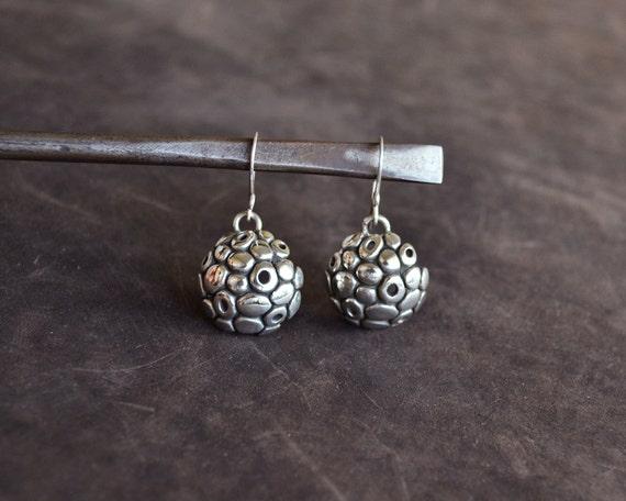 small dangle earrings silversterling silver nature earrings