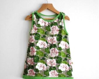 Organic Baby Tunic Dress, Organic Baby Dress, Baby Tunic Dress, Organic Tunic Dress, Baby Dress Organic, Toddler Tunic Dress, Geraniums