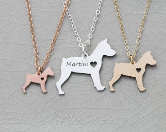 SALE • Miniature Pinscher Dog Jewelry • Engraved Pendant • Min Pin • Dog Breed • Sterling Silver Charm • Dog Loss • Pet Loss • Rescue Dog