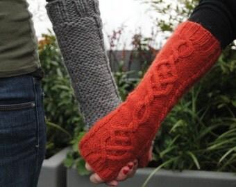 Long Celtic Fingerless Gloves
