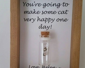 Cat lover gifts, gifts for cat lovers, Cat charms Cat art.  Personalise it with names or your own message.