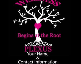 Custom Plexus Decal. Wellness Begins at the Root