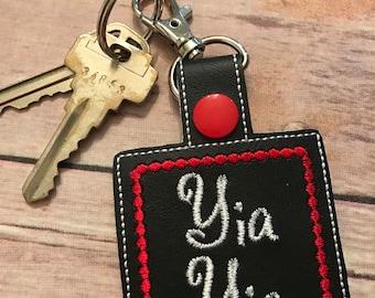 GRANDPARENT KEY FOB. Grandparent names snap tab. Nickname key fob. Personalized key chain. Perfect for purses, bookbags, keys, & more!